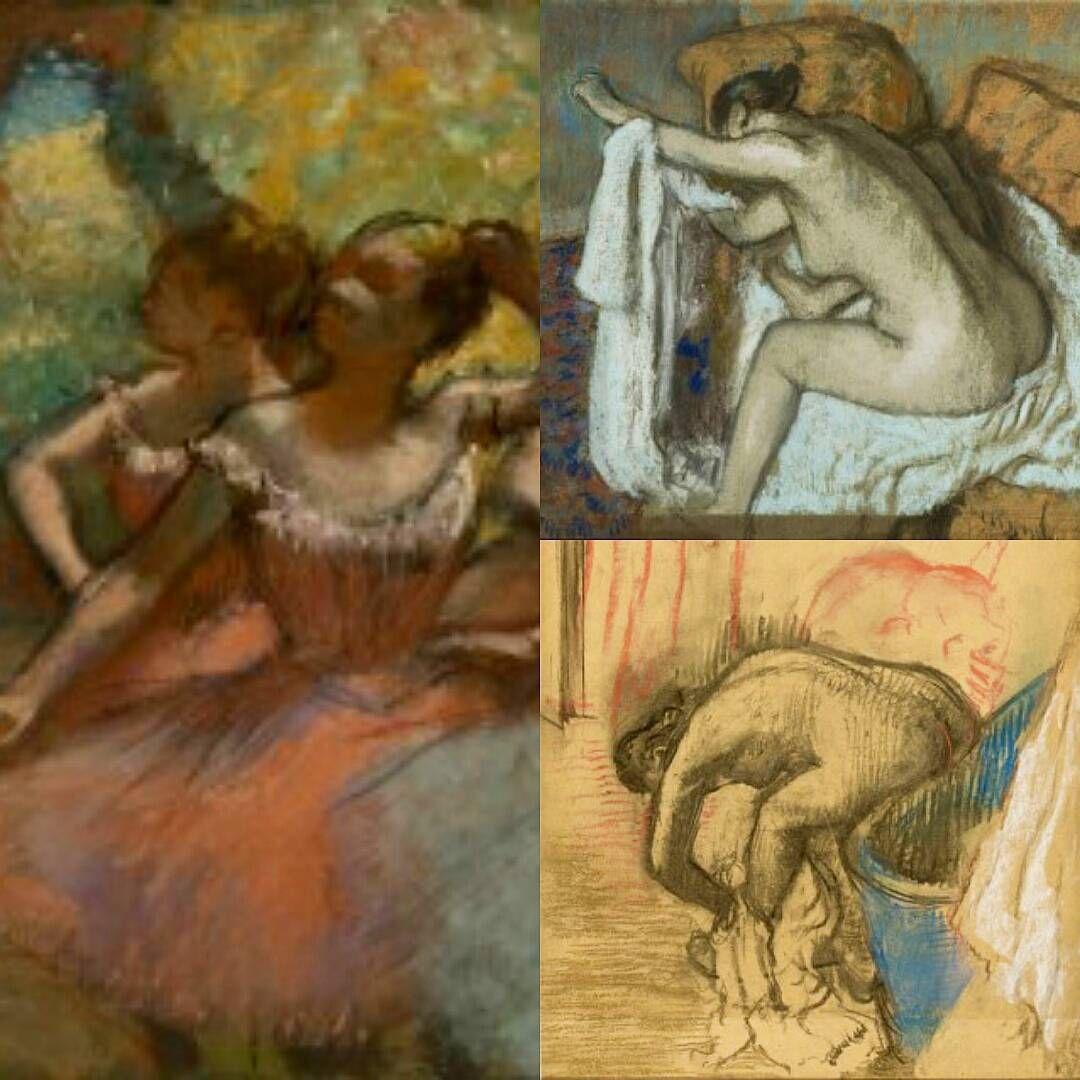 Edgar Degas, Quatro Bailarinas em Cena - 1890, Mulher Enxugando o Braço Esquerdo…