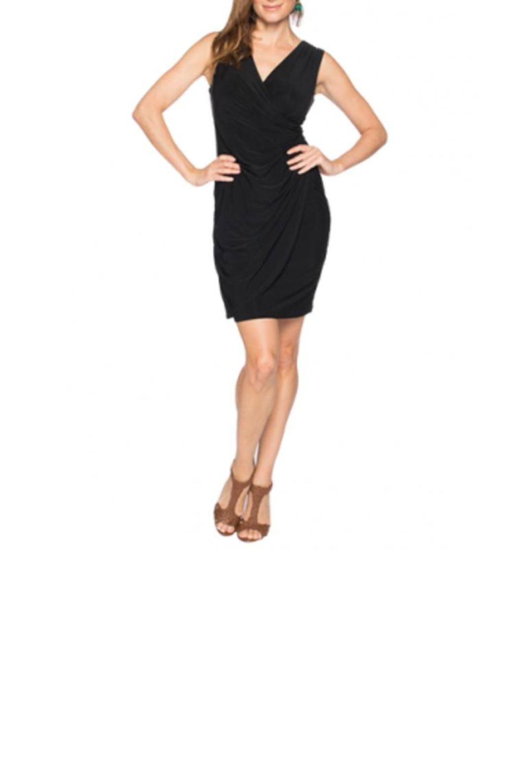 Look and feel fabulous in this sexy surplice tank dress. Effortless draping across the front of the body hides and flatters simultaneously to give an overall stylish and chic look. Wear with booties sandals or heels! Surplice Tank Dress by Tangerine. Clothing - Dresses Florida