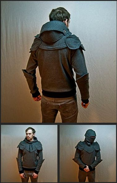 This Homemade Suit of Armor Hoodie is a Hipster Knight\u0027s