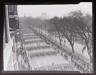 """West Point Cadets ParadeMarching In Boston 1937 Film Negative4"""" x 5"""""""