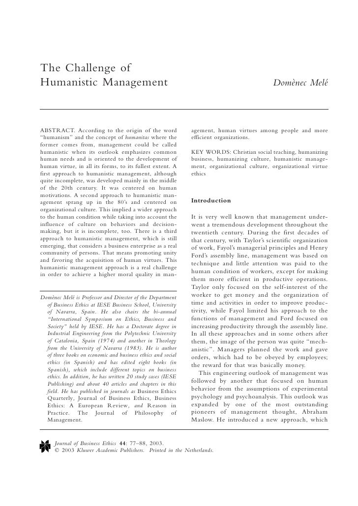 The Challenge Of Humanistic Management Teaching Essay Virtue Ethic Define Prompt