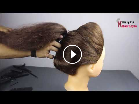 Very Beautiful And Easy Juda Hairstyle For Party Hair Style Girl