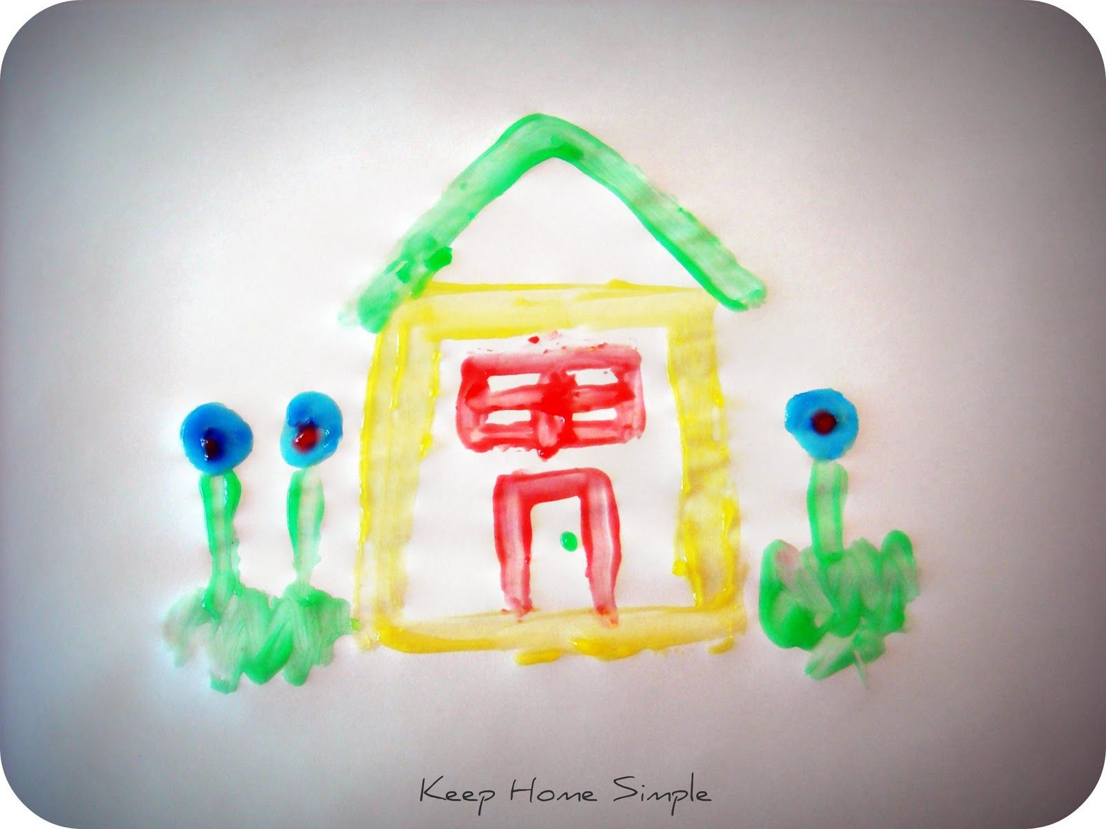 Keep Home Simple: Homemade Fingerpaints for Kids