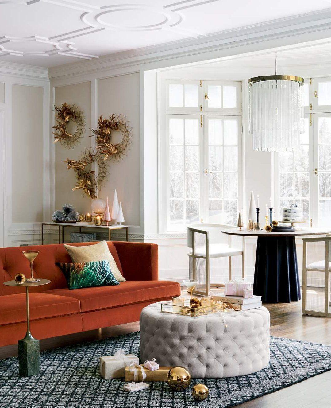 Natural Round Tufted Ottoman Reviews Elegant Living Room Decor