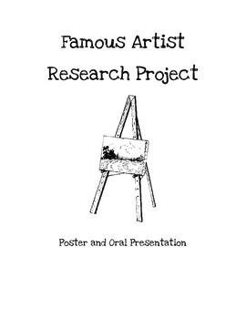 famous artists research project