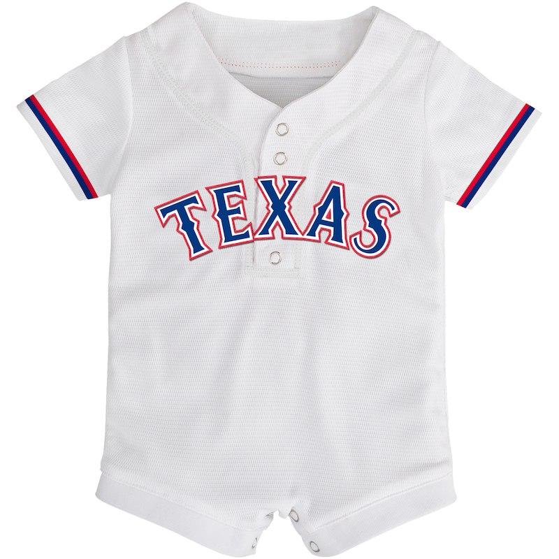 b67ce4990 Texas Rangers Majestic Newborn & Infant Cool Base Romper Jersey ...