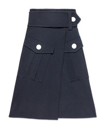 Runway skirt in wool gabardine