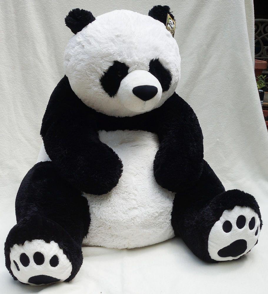 Hugfun International Jumbo Panda Bear Plush Stuffed Toy 36 3 Ft Tall With Tags Stuffed Toy Panda Bear Bear Plush Plush Stuffed Animals [ 1000 x 911 Pixel ]