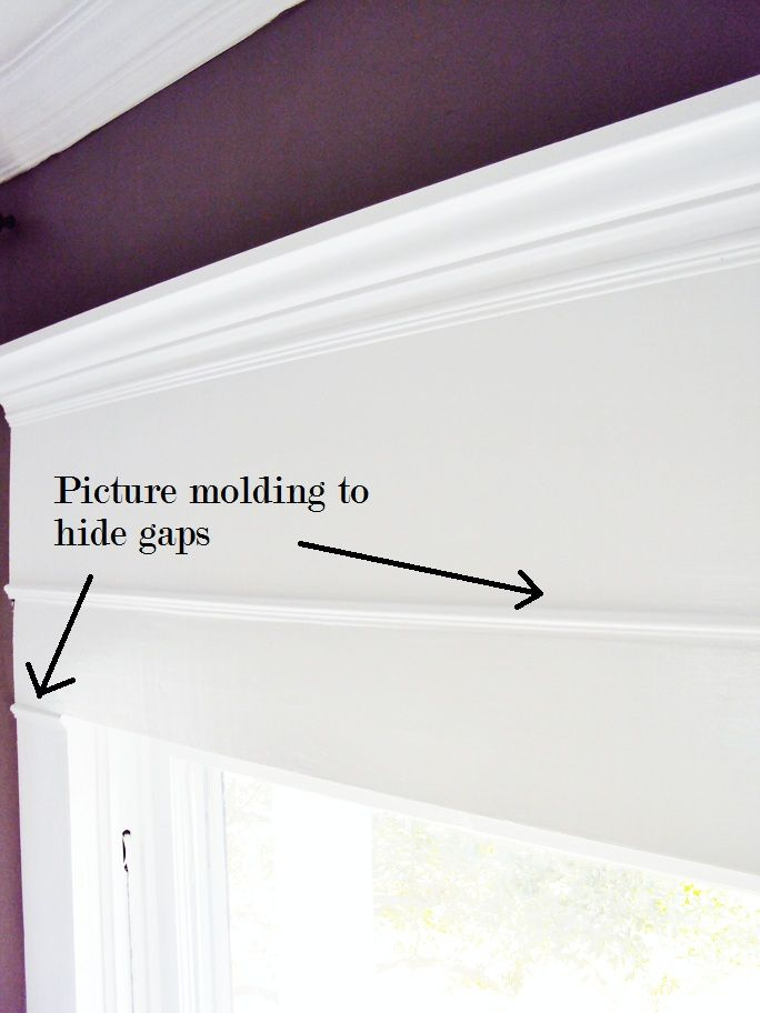 $22 molding solution for that blank space over your window thistlewoodfarms Inspirational - Modern crown molding joints In 2019