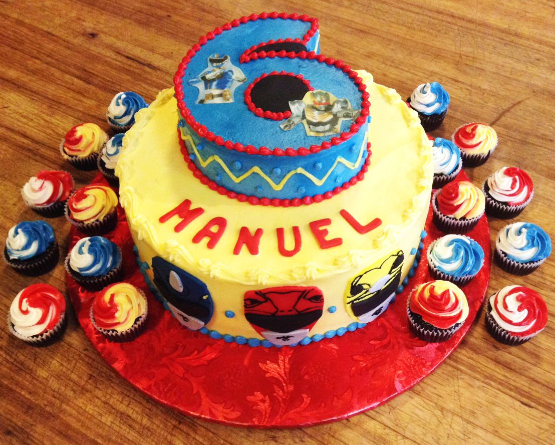 Power Rangers 6th birthday cake for a boy! | Jude Christopher ...