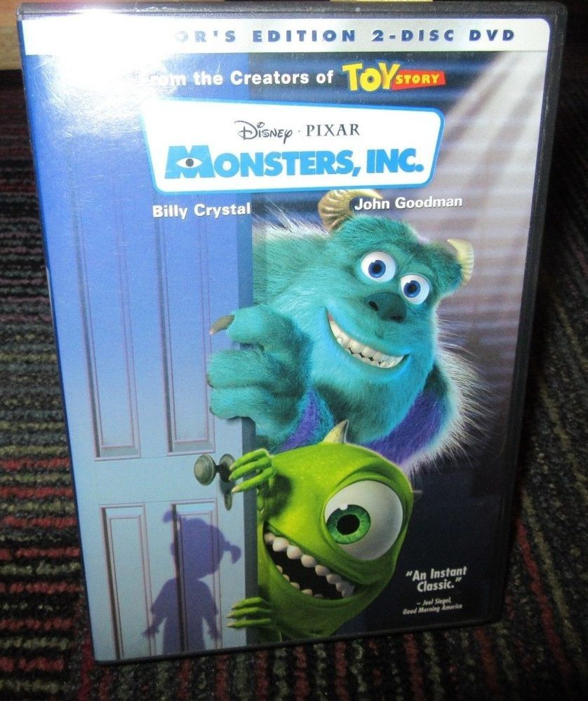 693275eb5 DISNEY: MONSTER'S INC. - COLLECTOR'S EDITION 2-DISC ANIMATED DVD MOVIE,  BILLY C.