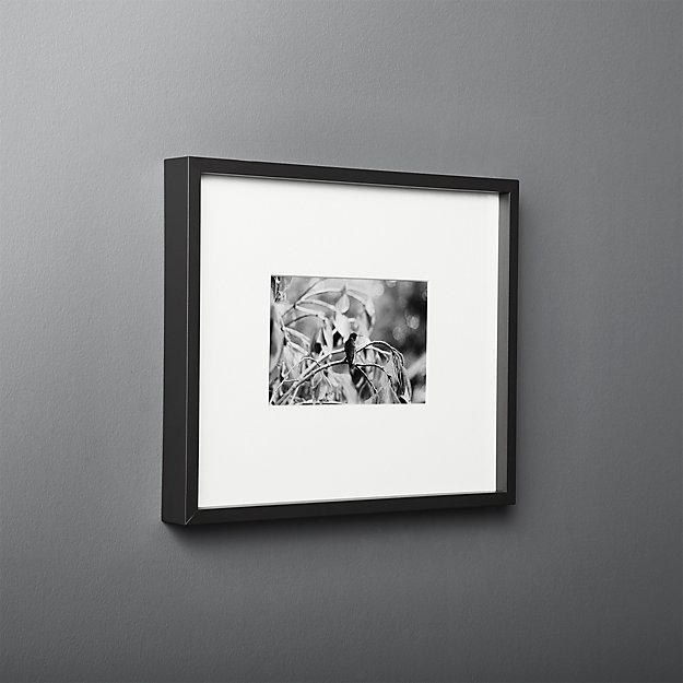 Gallery Black 18x24 Picture Frame With White Mat Reviews Cb2 11x14 Picture Frame Picture Frames Mirrored Picture Frames