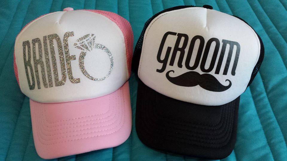Bride Groom gorras personalizadas para tu boda  5d2e2c35a72
