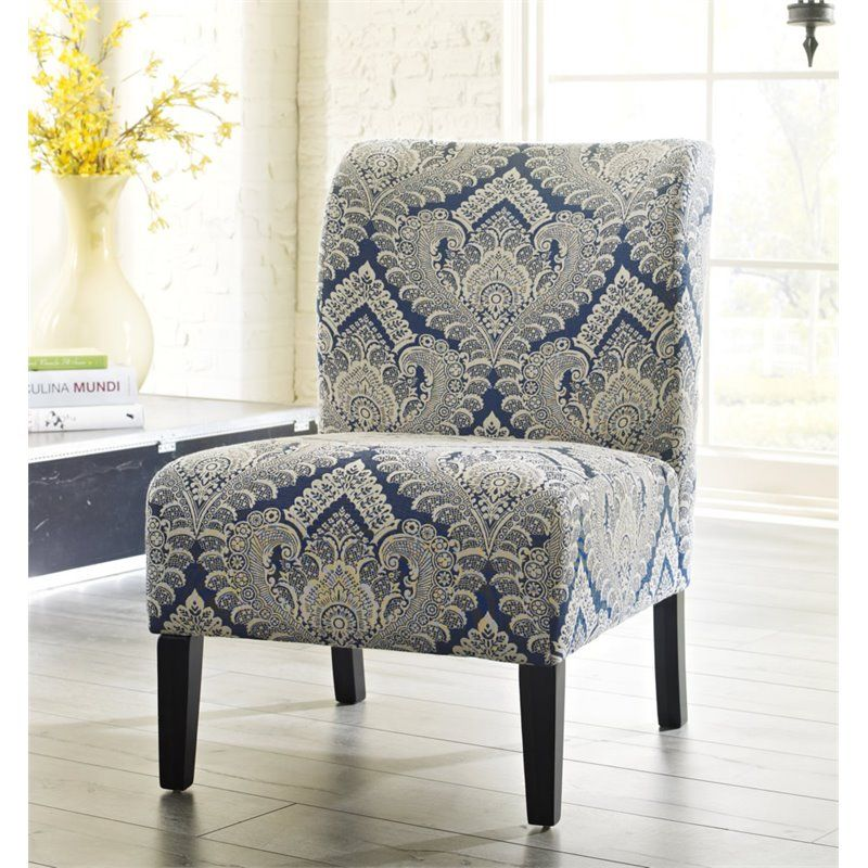Ashley Furniture Honnally Fabric Accent Chair In Sapphire Fabric