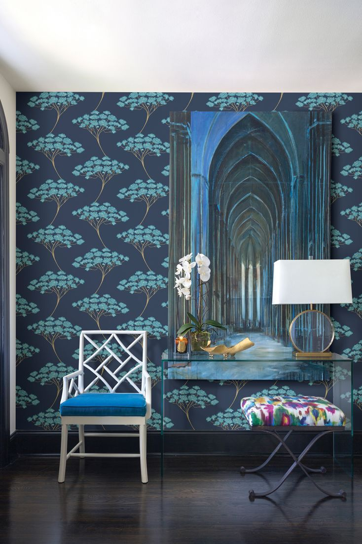 Banyon Tree by Brewers Navy Blue Wallpaper FD22409