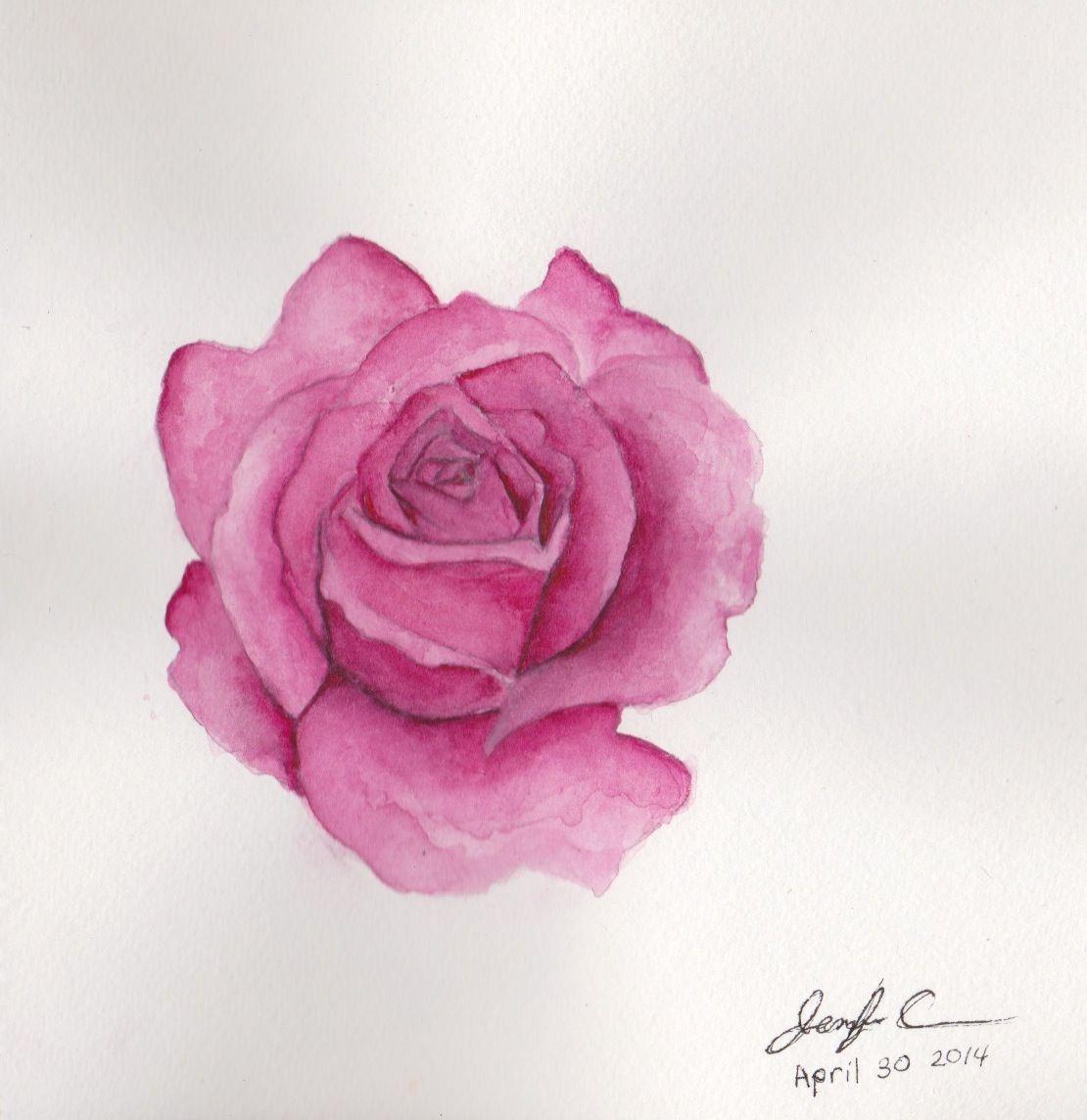 Watercolor Rose Painting Tumblr Rose Painting Watercolor Rose