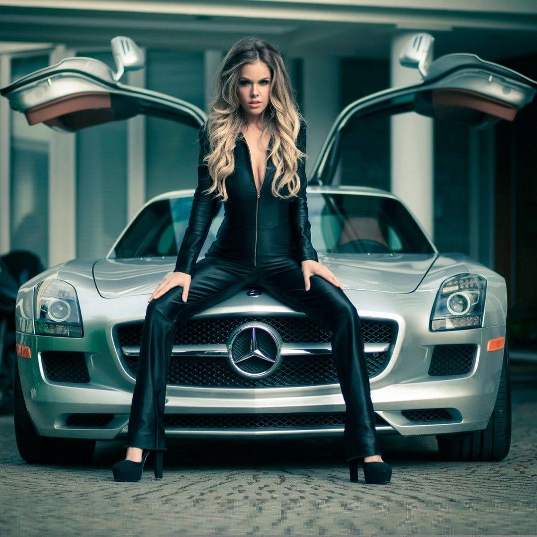 HD Girls And Mercedes Wallpaper