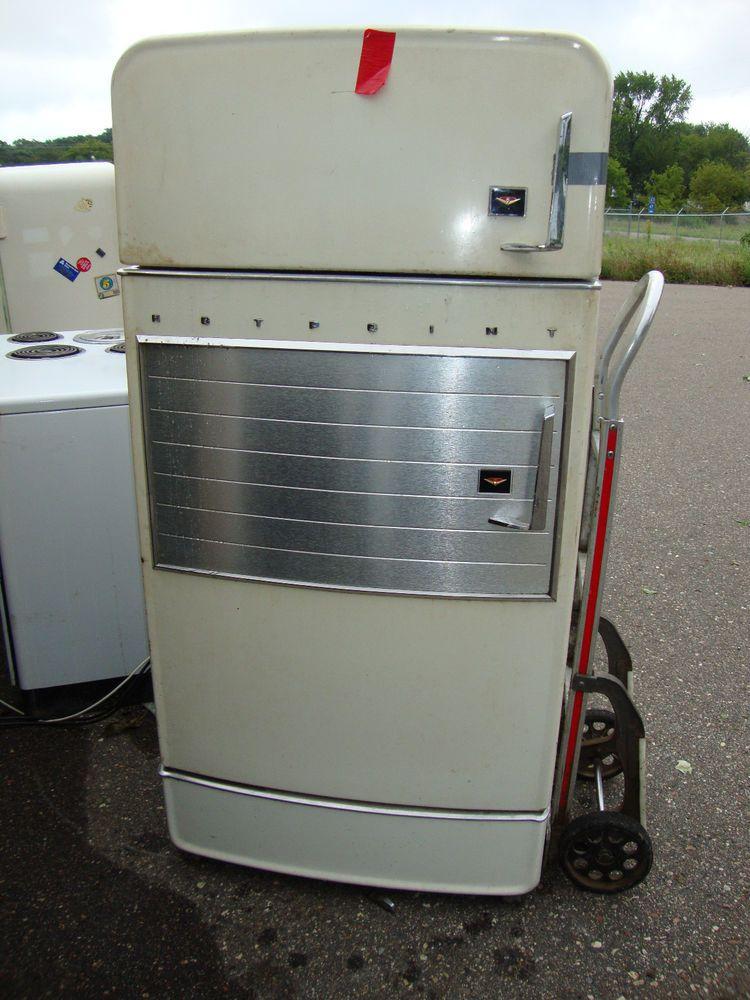 U Pick Parts Buffet Vintage HOTPOINT Refrigerator 1957