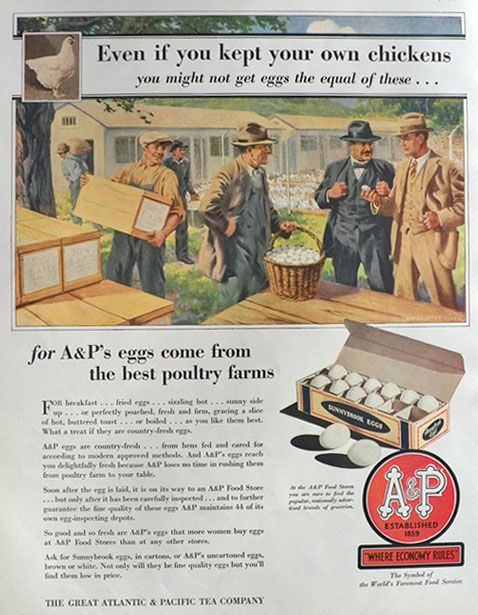 vintage a p grocery store photos 1930 a p food stores ad best eggs