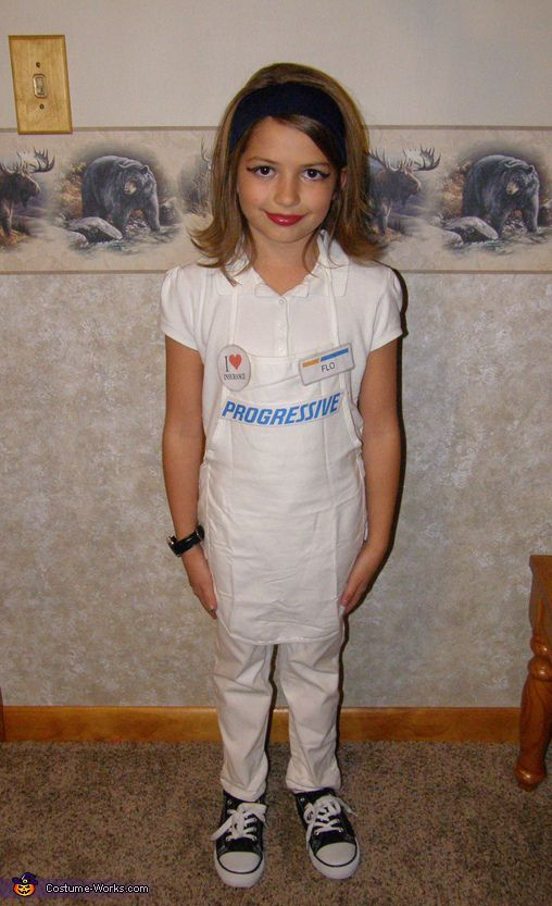 Nancy: Our 10 Year Old (then 9 Years Old)daughter Is Wearing The Costume.  Idea Came From Just Seeing Flo On TV And LOVING Her Commercials!