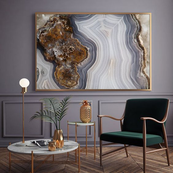 Mineral photography print 056 agate slab choose for Mineral wall