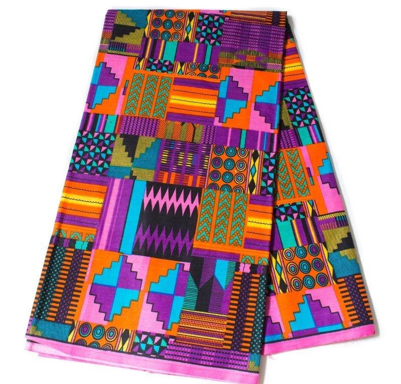 African fabric by the yard/ Ankara print fabric/ Kente