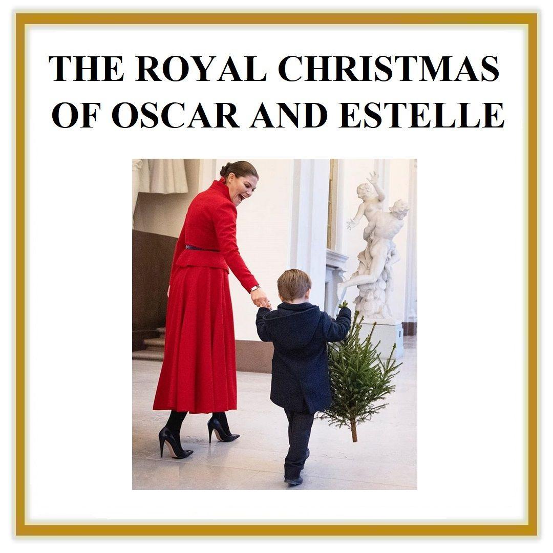THE ROYAL CHRISTMAS OF OSCAR AND ESTELLE OF SWEDEN   Royal christmas, Crown princess victoria ...