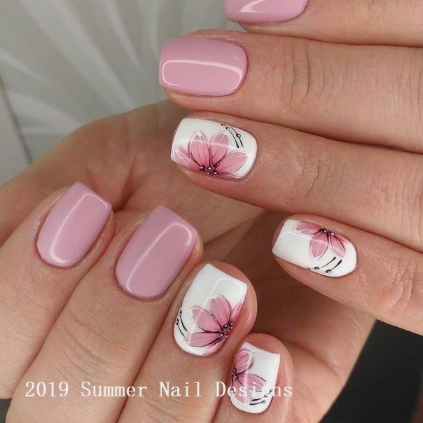 33 Cute Summer Nail Design Ideas 2 Short Acrylic Nails Designs Fall Nail Art Designs Short Acrylic Nails