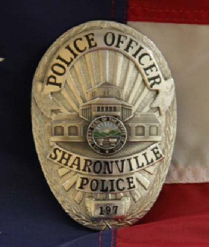 Sharonville Pd Oh 1 Police Badge Fire Badge Police