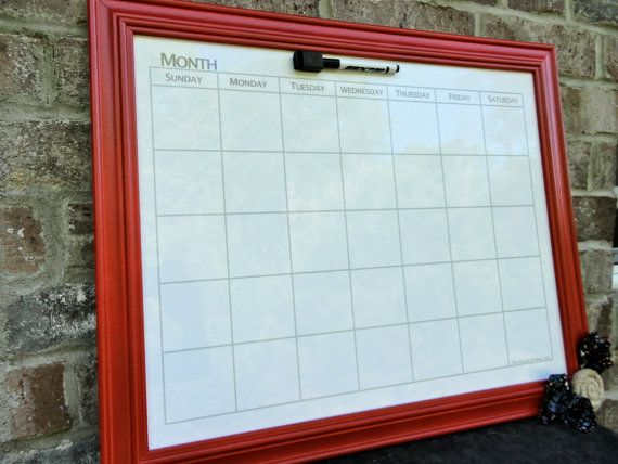 framed magnetic whiteboard calendar orange calendar planner white board wooden frame bedroom kitchen office