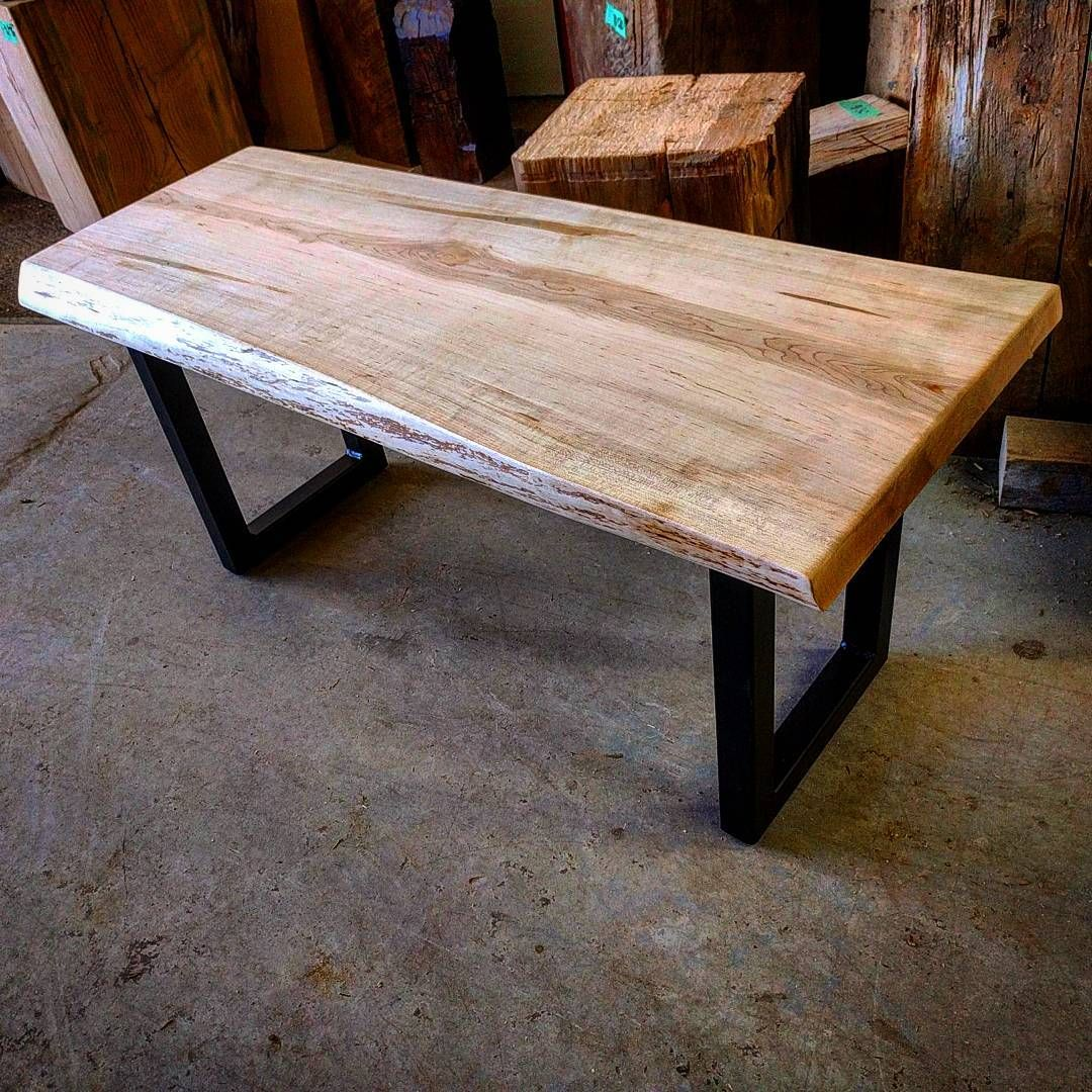 Live Edge Coffee Table Toronto: Live Edge Ambrosia Maple Coffee Table By Barnboardstore