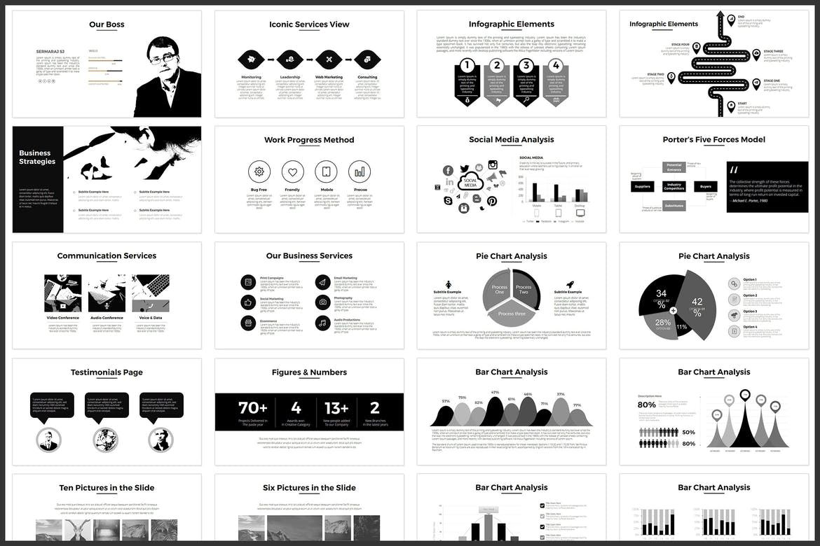 Minimal Powerpoint Template By Graphix Shiv On Goruntuler
