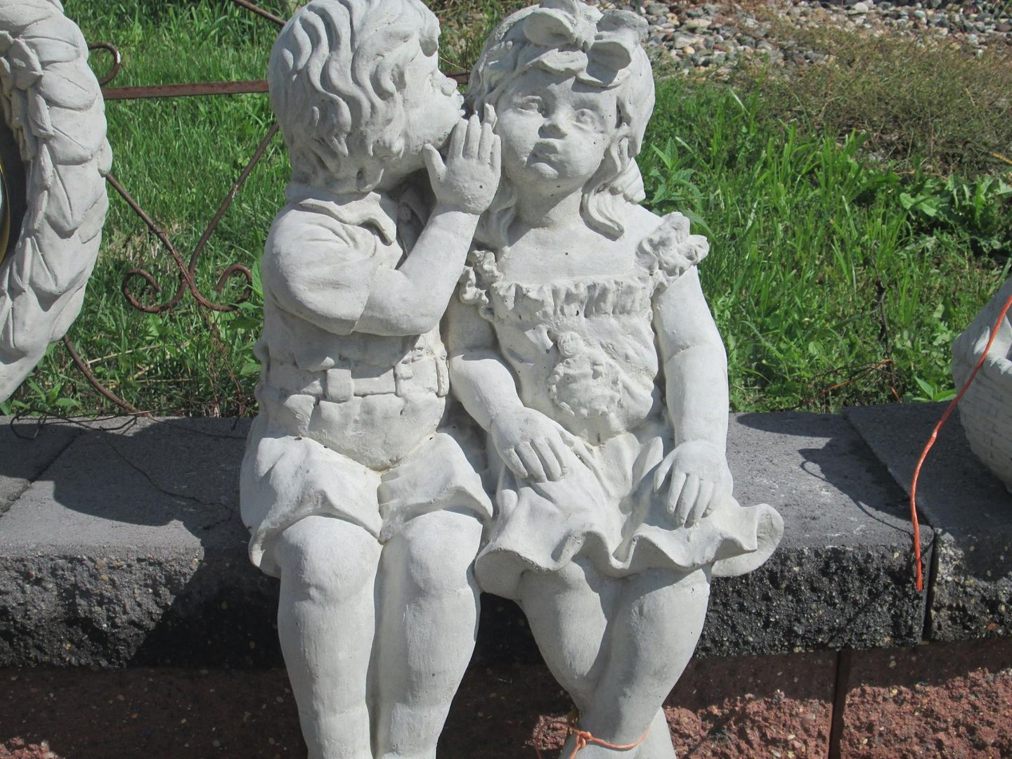 Great Whispering Boy And Girl · Concrete Garden StatuesBoys ...