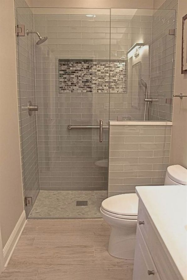 Most Popular Small Bathroom Remodel Ideas On A Budget In 2018 This Beautiful Look Was Crea Bathroom Remodel Shower Master Bathroom Renovation Bathrooms Remodel