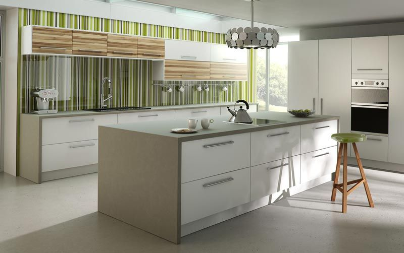 Fitted Kitchens Kitchens Bedrooms Bathrooms Dm Design Premier Alphine White Kitchen Fittings Kitchen Design Bespoke Kitchen Design