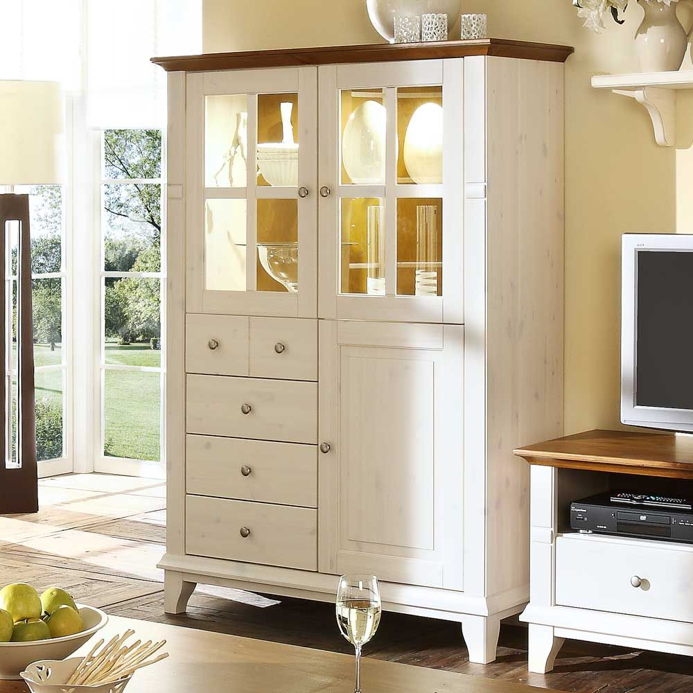 landaus highboard in wei glast ren highboard. Black Bedroom Furniture Sets. Home Design Ideas