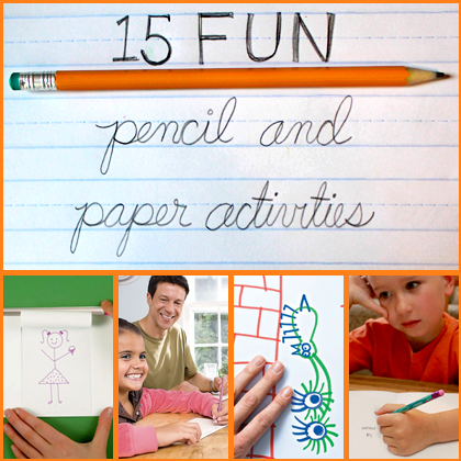 15 Fun Pencil And Paper Activities Easy Games And Activities For