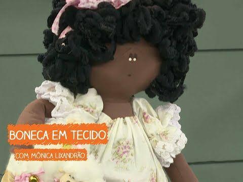 Boneca Em Tecido Com Monica Lixandrao Vitrine Do Artesanato Na