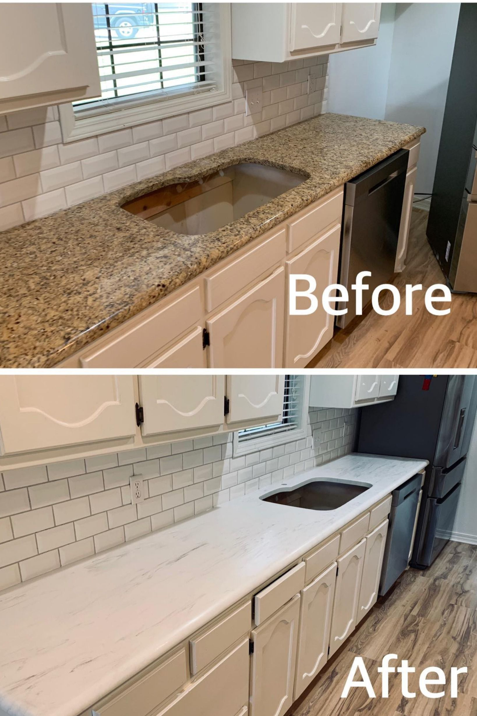 Epoxy Countertop Before And After Diy Kitchen Countertops Countertop Makeover Refinish Countertops