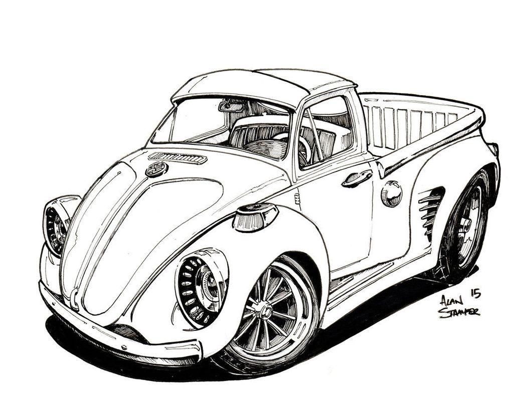Pin By Piccola Officina On Buba Car Artwork Vw Art Car Cartoon