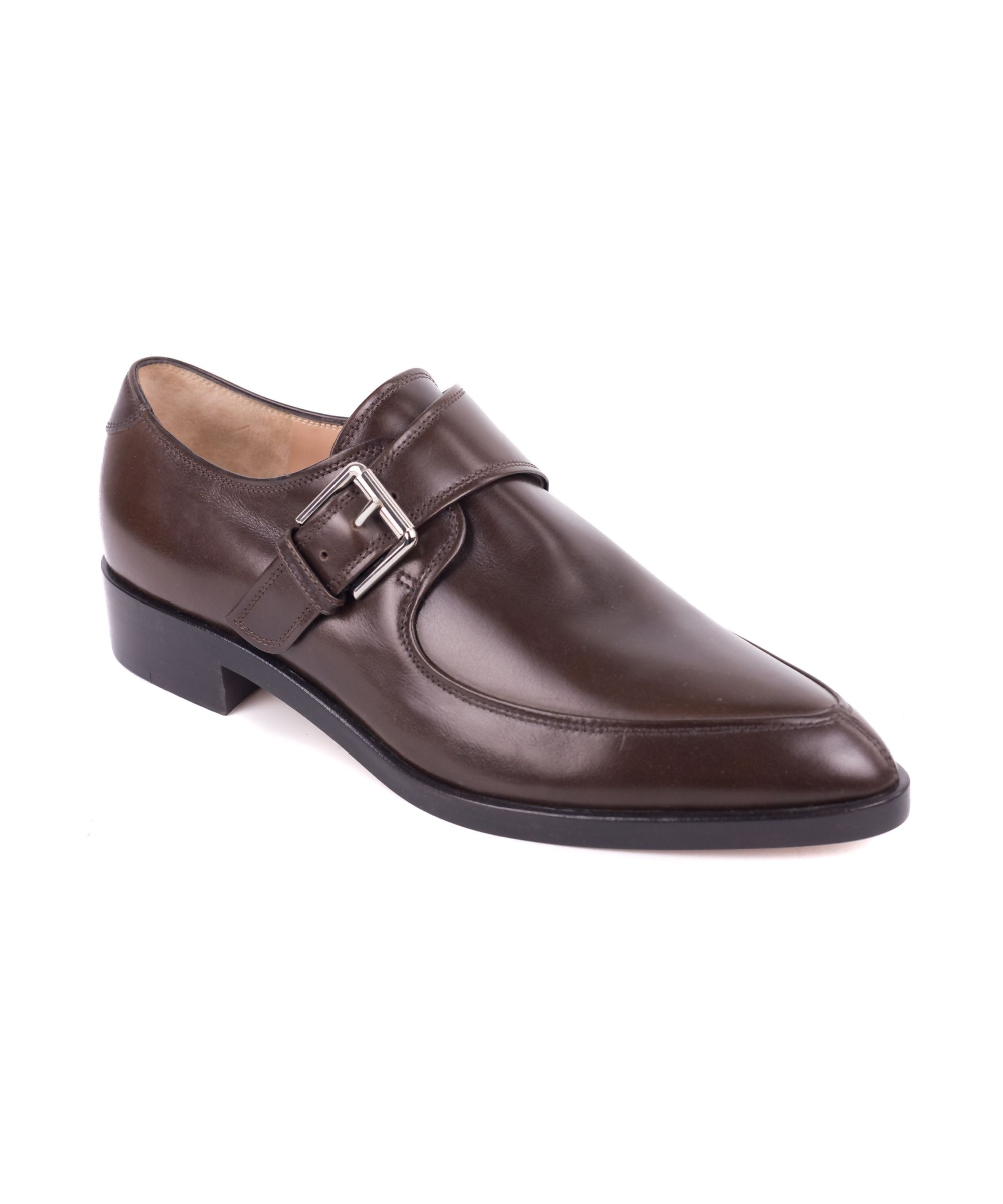 GIANVITO ROSSI | Gianvito Rossi Brown Pointed Toe Monk Strap Shoes #Shoes  #Flats #