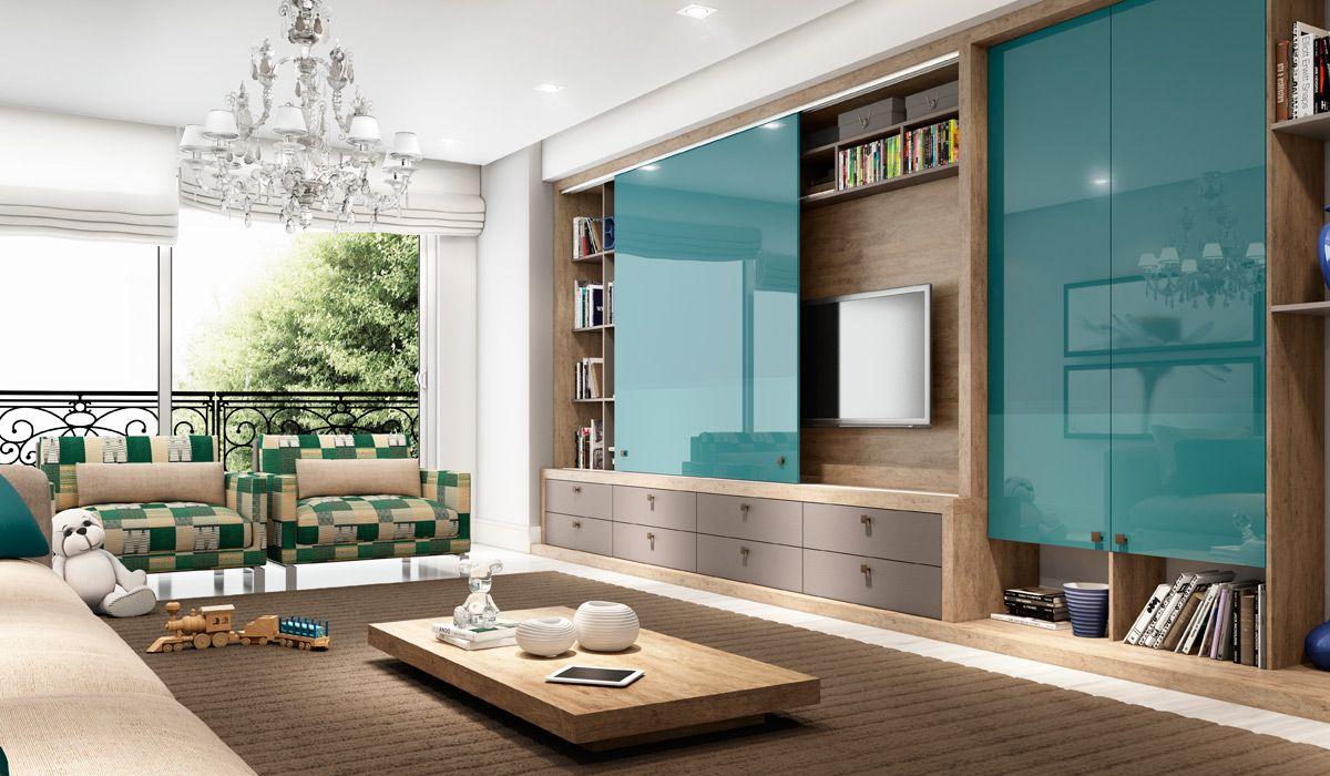 Ambiente Aconchegante Da Cole O Bem Estar Possui Caixa Em Branco  -> Sala De Tv Verde