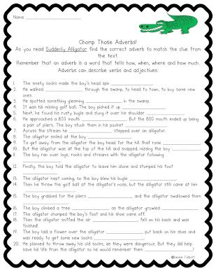 Adverb Action Center Yearn To Learn Center Adverbs Teaching Blogs Speech And Language Super teacher worksheets adverbs
