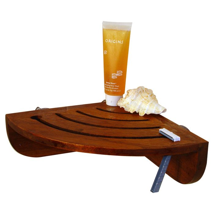 Aqua Teak Spa Teak Shower Caddy & Reviews | Wayfair | baño ...