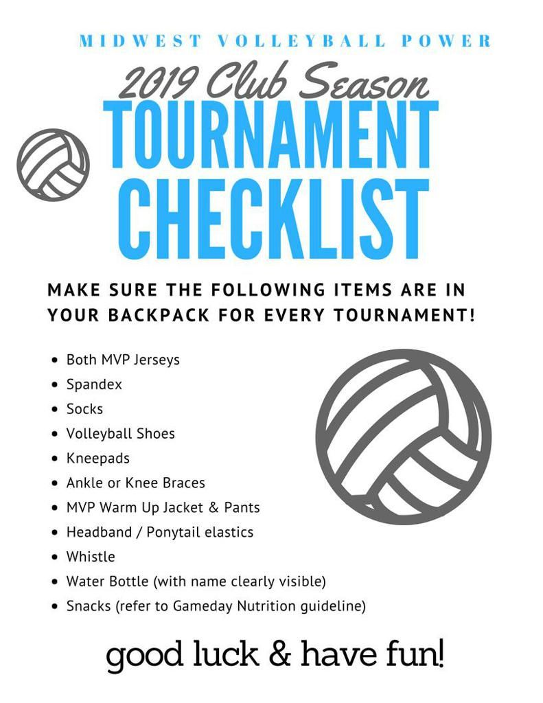 Image Result For Volleyball Tournament Checklist Volleyball Tournaments Volleyball Volleyball Shoes
