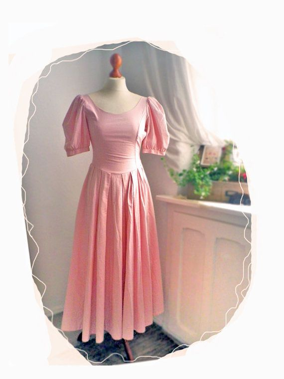 vintage laura ashley english rose dress small size open back pretty pinterest kleider. Black Bedroom Furniture Sets. Home Design Ideas