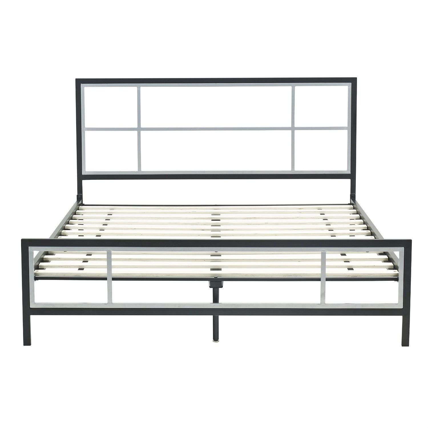Queen Size Modern Platform Metal Bed Frame With Headboard Footboard
