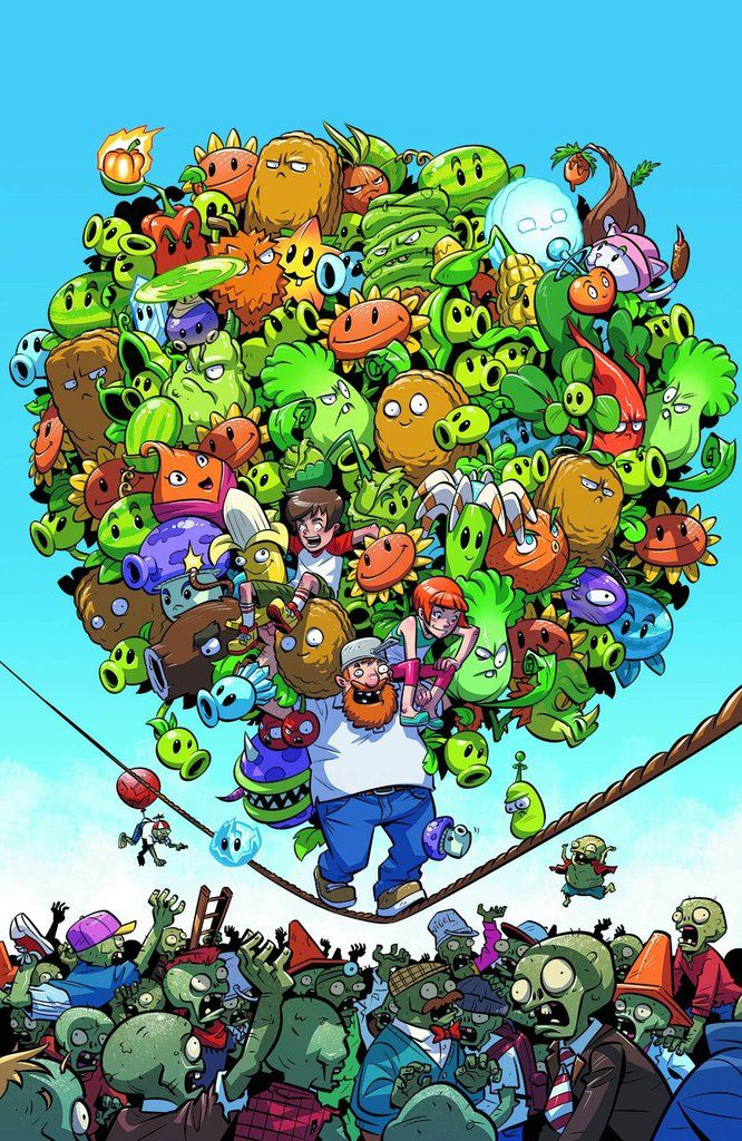 Plants Vs Zombies 7 By D3 Comic Book Spot Shop Now At Https D3comicbookspot Com Plant Zombie Plants Vs Zombies Zombie Wallpaper