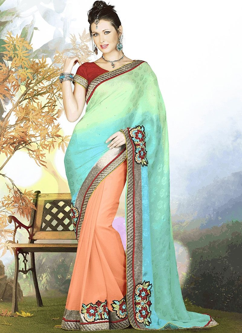 Exuberance Multi Color Georgette Sarees