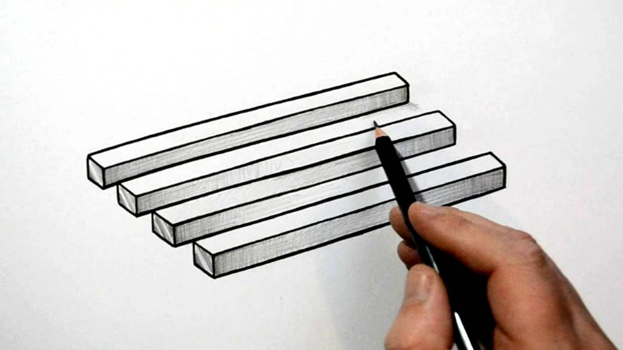 How To Draw A Simple 3d Optical Illusion Trick Art Is There 4
